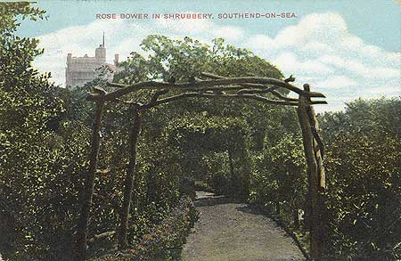 The Rose Bower in The Shrubbery, Southend on Sea, c.1900-1905, Reproduced by permission of English Heritage.NMR Reference Number: PC07139