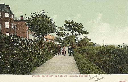 Royal Terrace, Southend On Sea, 1900 - 1920, Reproduced by permission of English Heritage.NMR Reference Number: PC11013
