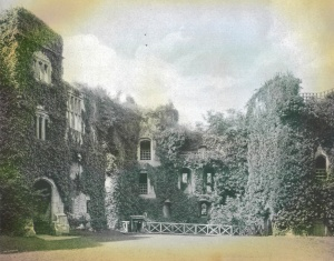 Raglan Castle, from Beautiful Britain, 1894