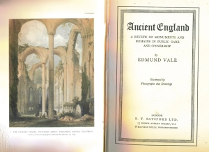 Title Page of Ancient England, by Edmund Vale, 1941