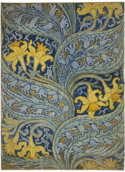 daffodil Design for a Brussels carpet,Walter Crane c.1895 V&A E.2325-1920