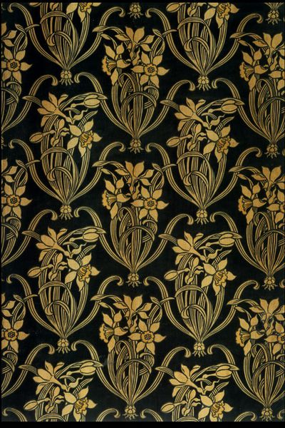 Furnishing fabric designed by Lewis Foreman Day, c.1888  V&A  T.75-1967