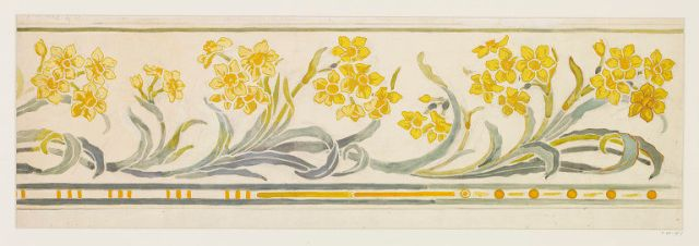 Design for a wallpaper border, Spiers, Charlotte Horne, born 1800 - died 1914, V&A  E.45-1917