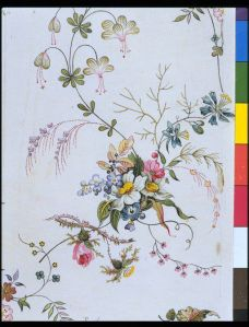 Design for a printed cotton by William Kilburn, c.1790 V&A E.894:25-1978