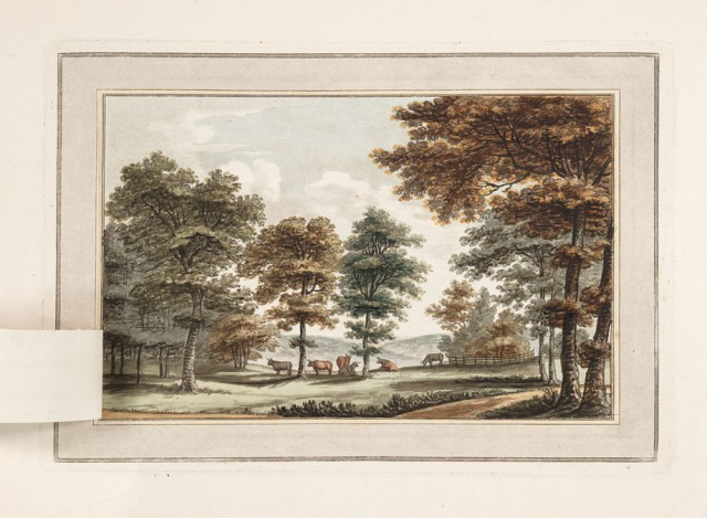 Bransdbury after 'improvemnt' from Sketches and hints on landscape gardening, 1794