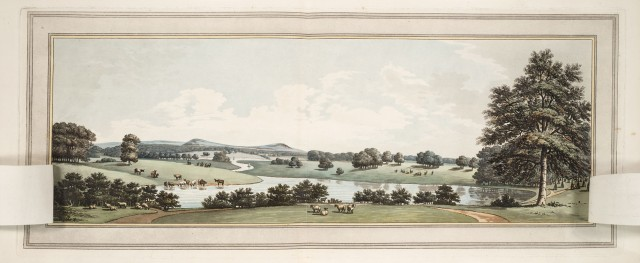and the same view after 'improvement', from Sketches and hints on landscape gardening , 1794