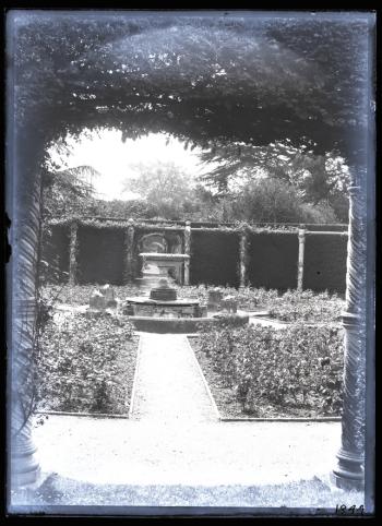 The Rose Garden taken by Geofrrey Bingley in 1891 Leeds University Digital Library