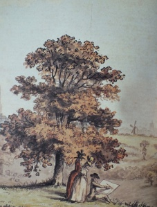 detail from Catton Park with Norwich in the Distance, 1788. Norfolk Museum Service