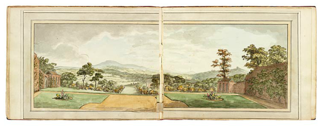 Image result for The View from the drawing room window before improvements, Repton, Ferney, Pierrepoint Morgan Library.
