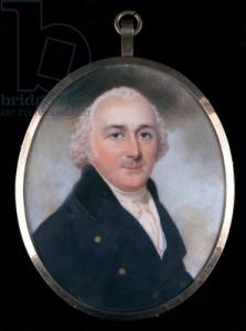 Portrait Humphry Repton c1790 Miniature on Ivory by John Downman (1750-1824) Bridgeman Library
