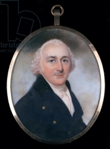 Portrait Humphry Repton c1790 Miniature on Ivory by John Downman (1750-1824) Bridgeman Library
