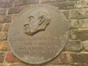 Trevor Bowen's plaque in the gardens  Tom Hannen, 2007