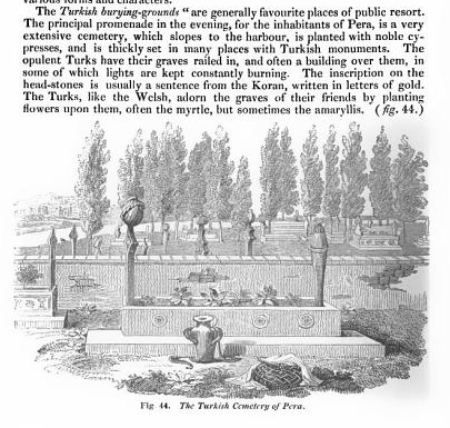 The cemetery at Pera in Istanbul, from on the laying out of cemeteries, 1843