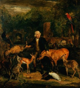 John Clarke,Keeper of the menagerie at Windsor, by John Lewis, 1828 Royal Collection