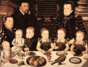 William Brooke, 10th Lord of Cobham and his Family by an artist of the British School, 1567 (Longleat House collection)