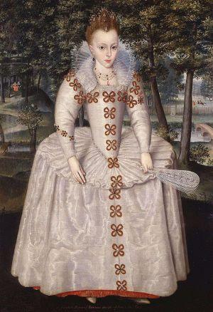 Princess Elizabeth  by Robert Peake, 1603 National Maritime Museum