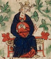 Henry I from BL Royal 20 A. ii, f. 6v.