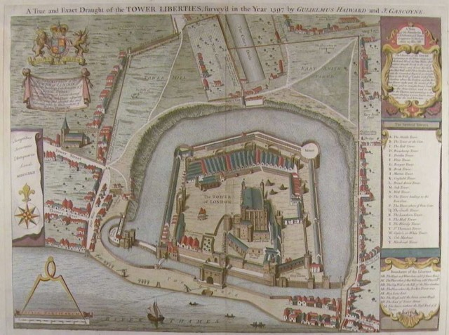 The Tower of London, 1597 by Haiward and gascoyne  from http://www.royalarmouries.org