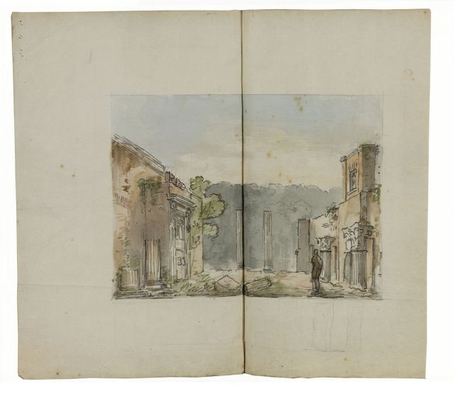 Perspective view of the ruins, c1802-04,   Sir John Soane's Museum,