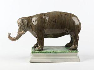 Staffordshire elephant c.1785-1800, V&A