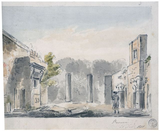 Perspective of the ruins adjacent to Pitzhanger Manor, George Basevi, 1810 Sir John Soane's Museum