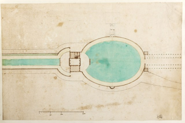 William Dickson, Plan of the east end of the 'Terrace Walk', the pavilion and Bowling Green, 1700 Sir John Soane's Museum