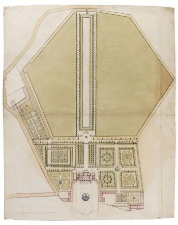 Henry Wise, Presentation design for the garden at Buckingham House, c.1702 Sir John Soane's Museum