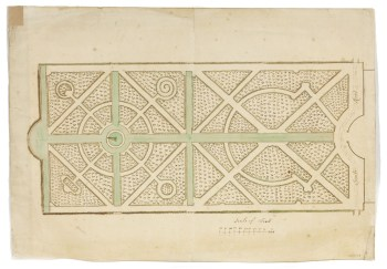 Design by George London or Henry Wise [?] for a 'wilderness' garden, possibly for Lumley Castle, , County Durham, early 18thc Sir John Soane's Museum