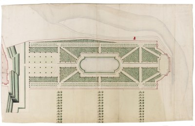 A presentation design for the Maestricht Garden, probably by Henry Wise, c.1712 Sir John Soane's Museum
