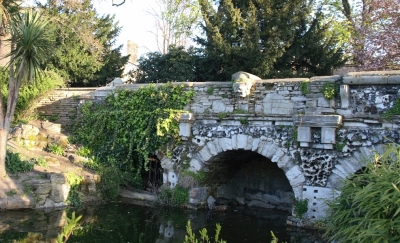 The rustic bridge in WAlpole Park, formerly part of Soane's garden  P.G.Champion This file is licensed under the Creative Commons Attribution 2.0 UK: England & Wales license.