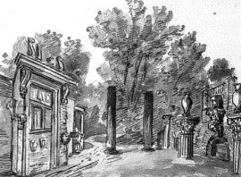 View of the ruins 'as they are', Charles Richardson 1832, British Library