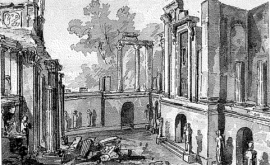 View of the ruins as if excavated, Charles Richardson, 1832 Britsih Library