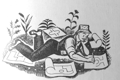 illustration by Eric Fraser, from C.H. Middleton   In Your Garden, 1938