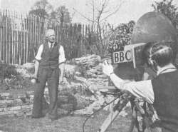 Fred Streeter in the demonstration garden at Alexandra Palace.  BBC
