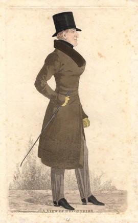 William Cavendish, 6th Duke of Devonshire  by Richard Dighton, 1820, National Portrait Gallery