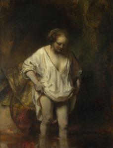 Rembrandt's Hendrickje Bathing, National Gallery