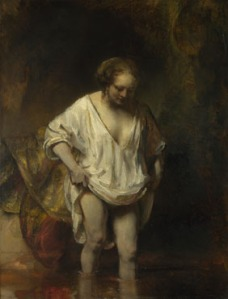 Rembrandt's Hendrickje Bathing, National Gallery