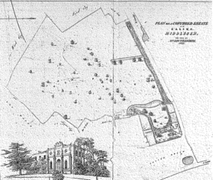 Plan of the estate when it was sold in 1832