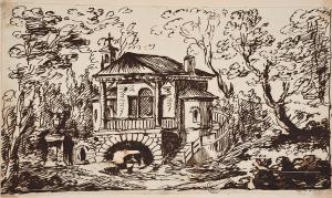 Robert Adam, Sketch for Garden Hut for  Miss Curzon  Sir John Soane's Museum