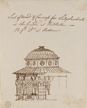 Robert Adam, Preliminary design for a Seat of Wood & Canvass for Lady Scarsdale, c1760-70, unexecuted  Sir John Soane's Museum