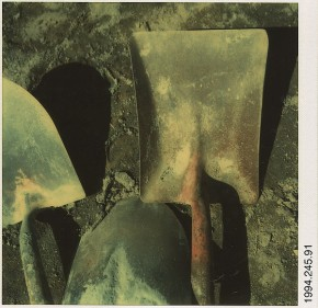 Garden Tools, instant colour print by Walker Evans, 1974 Metroplitan Museum of Art, New York