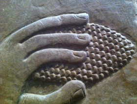 Deatil of a pine cone from a relief of King Assurnasipal II, British Museum