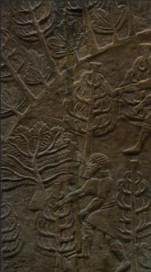 Assyrian relief, Nimrud, British Museum