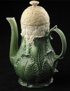 Cauliflower Coffee pot, 1760 Wedgwood Museum