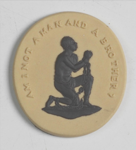 Am I not a man and a brother: Slave Medallion, produced by Josiah Wedgwood to promote the abolition of slavery © Wedgwood Museum