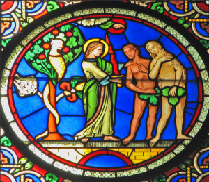 The expulsion from Eden,  of Ely Cathedral  image by Fr Lawrence Lew