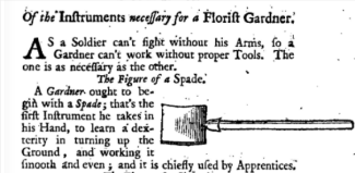 from The retir'd gard'ner, 1706. This included London & Wise's translation of Louis Liger, Le jardiniere fleuriste of 1704.