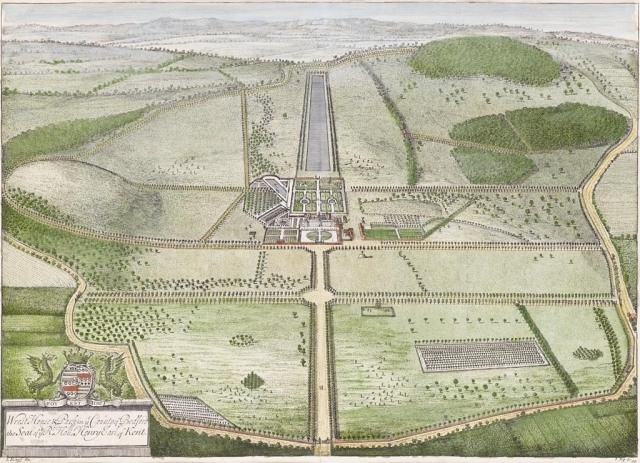 "Kip & Knyff's plan from ""Britannia Illustrata"" (1707)"