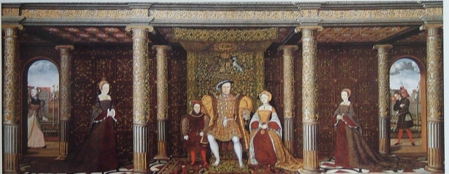 The Family of Henry VIII, c. 1543-1547.  Unknown artist, after Holbein. Hampton Court Palace. © The Royal Collection