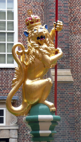 The Golden Lion probably chosen as a badge by Richard I & used frequently by Henry VIII